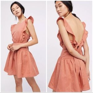 NWOT Free People Erin Linen Dress - Sz M